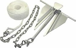 Boat Slip-ring Anchor Kit 7 For Boats Up To 21' Galvanized, Rust Resistant
