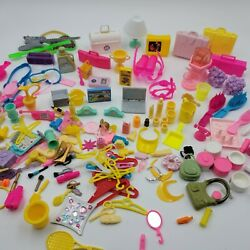 Vintage Barbie Mixed Lot Of Accessories, Kitchen Bathroom Suitcases Phone Doctor