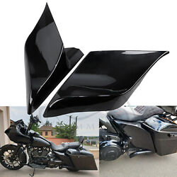Black Abs Plastic Stretched Extended Side Cover Fit For Harley Touring 2009-2013