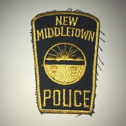 Vintage New Middletown Ohio Police Dept Patch Cheesecloth