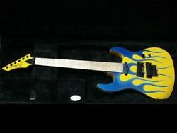 Bc Rich Gunslinger Fire Pattern 6 String Electric Guitar Shipped From Japan