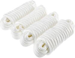4pcs 3/4 Inch 25 Ft Double Braided Nylon Boat Dock Line Mooring Rope Anchor Line