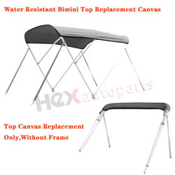 4 Bow Bimini Top Replacement Canvas Cover W/ Boot Without Frame Water Resistant