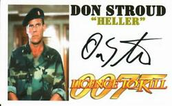 License To Kill Don Stroud Hand Signed 3x5 Picture Card Todd Mueller Coa