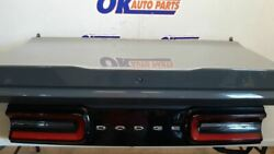 15-17 Dodge Challenger Oem Trunk Decklid Assembly With Spoiler Painted Gray