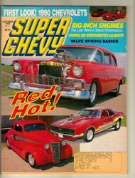 Super Chevy Magazine 1989 Oct Muscle Car Stock 1957 Bel Air And03970 Ls6 454 Chevelle