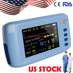 Handheld 5-parameter Vital Signs Patient Monitor Tft- Lcd Touch Screen Us Stock