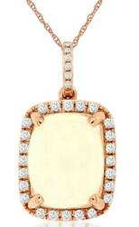 3.07ct Diamond And Aaa Opal 14kt Rose Gold 3d Oval And Round Halo Floating Pendant
