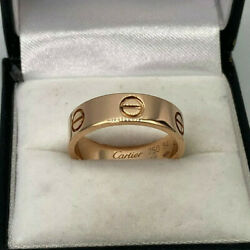 Genuine 18ct Rose Gold 5mm Love Ring . Size 54. Goldmine Jewellers.