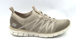 Skechers Stretch-knit Bungee Slip-on Sneakers Glider Tuneful Taupe