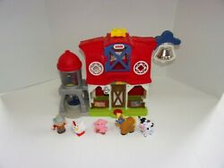 Fisher-price Dwc31 Little People Caring For Animals Farm Toy Set Farmer Animals
