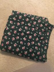 Dark Green Floral Fabric 6 Yds. Great For Quilt Backing
