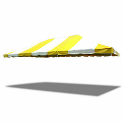 20x30' Replacement Frame Tent Canopy Yellow White 16 Oz Block-out Vinyl Top Only
