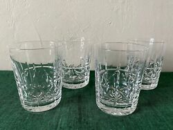 Waterford Crystal Kylemore Double Old Fashioned Glasses Set Of 4 Free Shipping