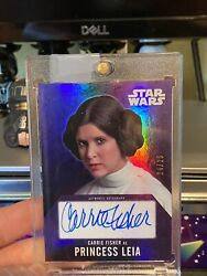 Star Wars Topps Evolution /25 Carrie Fisher Autograph Card Mint
