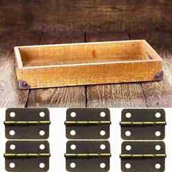 10pcs Antique Bronze Cabinets Fittings Hinge Small Jewelry Boxes Diy Crafts