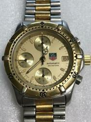 Tag Heuer 765.406 Chronograph 2000 Series Automatic Mens Gold Two Tone W/ Papers