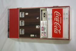 Vintage Coca-cola Drink Vending Machine Piggy Bank Tested Non Working 107