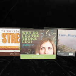 Joyce Meyer Lot 3 Christian Values Teaching Cd Sets Cure For Worry Stress Why