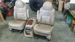 200-2005 Excursion Front Seat Bucket Set Captain Chair Leather And Electric