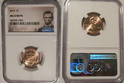 2019 P Lincoln Shield Cent 1c Ngc Ms 67 Rd Pl Prooflike Lincoln Label