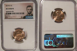 2019 D Lincoln Shield Cent 1c Ngc Ms 68 Rd Pl Prooflike Lincoln Label