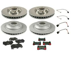 Front And Rear Brake Kit Rotors Pad And Sensors For Porsche Cayenne Turbo S 09-10