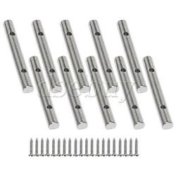 10x Headstock Retainer Bar For Tremolo Systems Electric Guitar Chrome