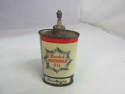 Vintage Advertising Oiler Bonded Lead Top Oil Tin Can Empty A-610