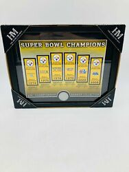 The Highland Mint Pittsburgh Steelers Championship Banner Collection