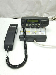 Motorola Cdm1550 Low Band Vhf W/ Remote Head 42-50mhz And Mobile Telephone Handset