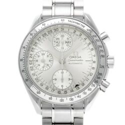 Free Shipping Pre-owned Omega Speedmaster Triple Calendar 3523.30 Silver Dial