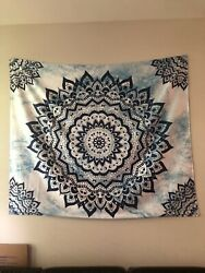 Wall Tapestry Blue and White