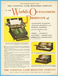 1929 Ncr National Cash Register Co Dayton Oh Accounting Analysis Machine Ad