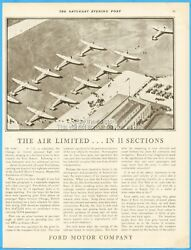 1929 Ford Trimotor Tin Goose Airport The Air Limited In 11 Sections Vintage Ad