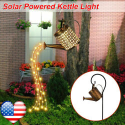 Solar Led Watering Can String Light Outdoor Garden Waterfall Lamp Decoration Usa
