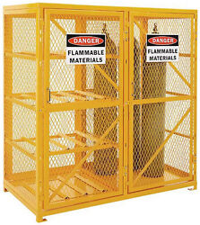 Cylinder Storage Cabinet For Propane And Welding Gases - Combo Horizontal And Vert