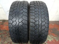 2x 265 70 17 Pair Free-fitting Mastercraft Courser A/t 2 M+s Tyres 502