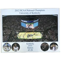 2012 Ncaa Champions University Of Kentucky Autographed Poster Mint Condition