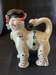 Whimsi Clay Cat Figurine By Amy Lacombe – Fancy Felines The Idol Elvis