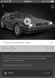 Back To The Future Delorean Rare 25000 Veve Nft 3d Digital Collectible Sold Out