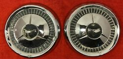 2 Vintage Chevrolet Chevy Hubcaps-1950s-1957-dog Dish-bel Air-10.5-150-210