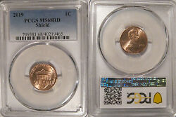 2019 P Lincoln Shield Cent 1c Pcgs Ms68rd