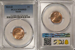 2019 D Lincoln Shield Cent 1c Pcgs Ms68rd