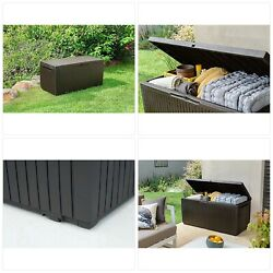 Springwood 80 Gallon Resin Outdoor Storage Box For Patio Furniture Cushions,