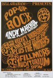 Velvet Underground 1966 Concert Poster-4th Printing-lou Reed/andy Warhol