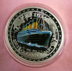 2012 Rms Titanic Pure Silver Coin - 100th Anniversary - New Zealand Mint