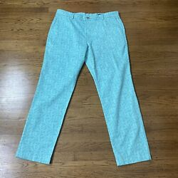 Nwt Vineyard Vines All Over Palms Green Printed Breaker Pants 38x32 Classic Fit