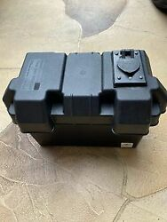 Group 27 Battery Box With 12-24 Volt Outletfor Electric Fishing Reel