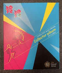 London 2012 Olympics Sports Collection Collector Album Mint Set Royal Mint